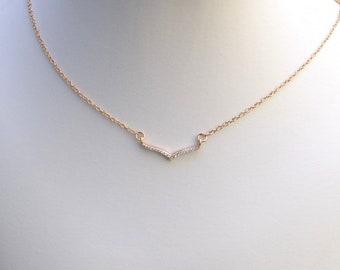 Handgemachte CZ und Rose Gold Halsband Rose Gold Halsband, Choker Cubic Zirkonia, Rose Gold, Rosa Halskette, Hochzeitsschmuck, N043