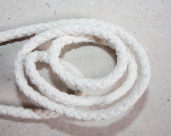 5 mm Cotton Rope =29 Yards = 26.52 Meters Natural and Elegant 100 % COTTON BRAIDED CORD Bulky Yarn Super Bulky Yarn Macrame Cotton Cord