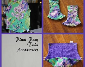 Plum Posy Tula Accessories - Ready to Ship - Hoodie hood, Corner suck pads