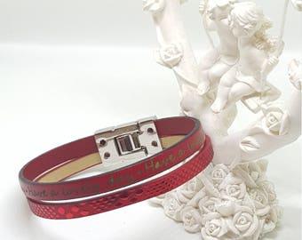 """Bracelet leather women """"Ruby"""""""