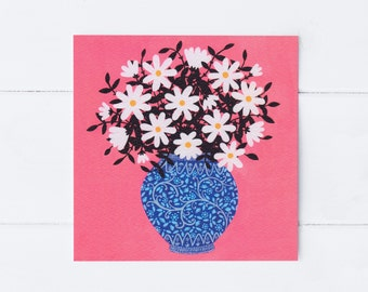 Daisies Greeting Card | Art Card | Floral Greeting Card | Notecard | Floral Still Life | Thank You Card | Gift For Her | Friendship Card
