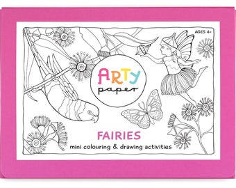 Kids Mini Colouring Folder- Fairies