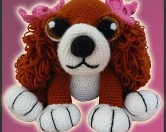 Amigurumi Pattern Crochet Wendy Cocker Puppy Dog Toy DIY Instant Digital Download PDF