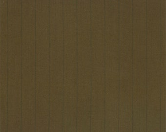 Carmel Brown Wool Pin Stripe Suiting, Fabric By The Yard