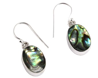 Abalone shell silver earring