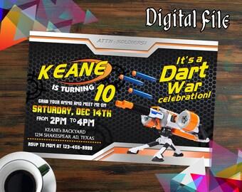 Nerf Invitations,Nerf Birthday,Nerf Party,Nerf Birthday Invitations,Nerf Printable,Nerf Invite,Nerf Birthday Party,Nerf Invites-F1201