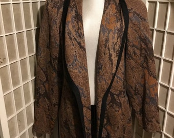 1980s St Johns Wool Sweater Coat Thick Wool Shaped as a Jacket