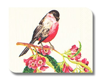 Bird paper napkin for decoupage, mixed media, collage, scrapbooking x 1. Robin No 1100