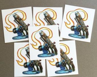 Berthlehem Glassblowing Torch vinyl sticker set - 6pc