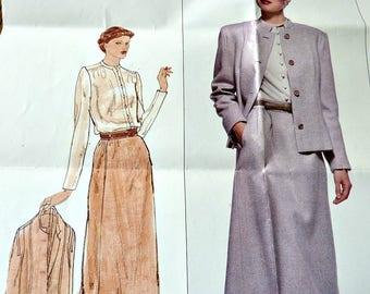 Vogue Pattern 2201 Pierre Balmain Designer Jacket, Skirt, Blouse Size 10 Women 1970's
