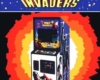 Space Invaders Video Arcade Game Stand-Up Display