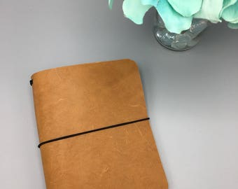 Caramel - Pocket - Leather Traveler's Notebook/Fauxdori/TN Planner Cover