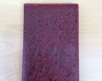 Hand made and reusable A5 leather notebook cover, complete with a ruled A5 notebook