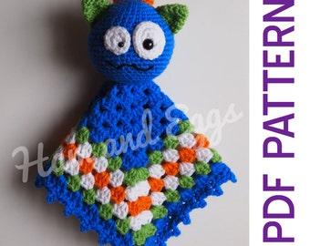 Amigurumi Silly Monster Security Blanket Lovey PDF Crochet Pattern