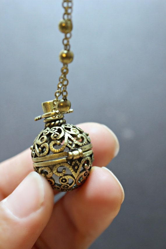 Rose Quartz Necklace Wish Box Necklace Attract Love Antique