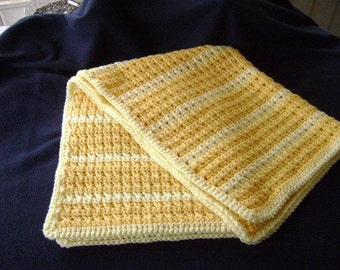 Yellow Baby Blanket or Lap Throw