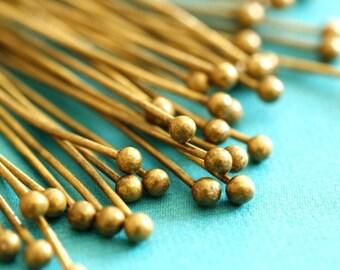 50pcs Antique Bronze Finish Ball Pins (45mm)