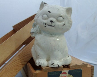 antique Hubley cast iron CAT bank