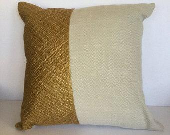 Hand braided pillow