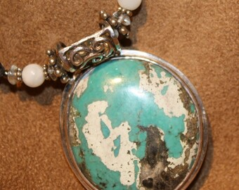 Turquoise Earth Pendant Necklace