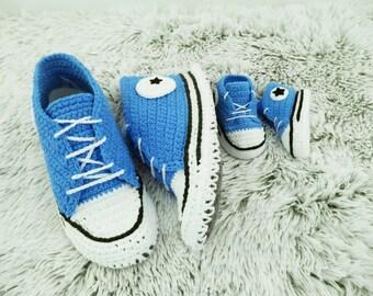 Crochet Shoes Crochet slippers  Crochet Sneakers Bedroom slippers, Girls slippers, Mens slippers, Kids slippers, House shoes,