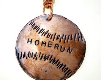 Copper Homerun ( or your personalization) Baseball Key Ring