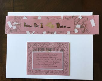 How Do I Love Thee Scrapbook Page Kit