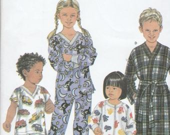 Simplicity 9853 Toddlers Pajamas in Several Variations Size 3,4,5,6 UNCUT