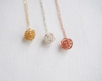 Love Knot Necklace, Sterling Silver Knot Necklace, Gold Knot Necklace, Rose Gold Knot Necklace, Tie The Knot Necklace