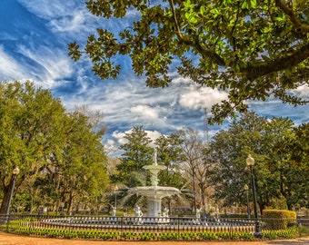 The Fountain at Forsyth Park in Historic Savannah, Georgia