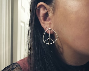 Doodle Peace Sign Earrings