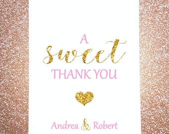 W5, A Sweet Thank You, Wedding, Candy Bag, Candy Buffet, Sweets, Favor Bags, Treat Bags, Quinceañera, Bridal Shower, Personalized bags