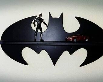 Handmade batman shelf/Plywood shelf/Shelf for baby Nursery/Children room decoration/Comic fan/Decor/Toy storage/Gift/Gift for children/Kids