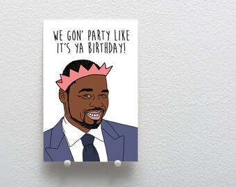 Happy Birthday Greeting Card, 50 Cent Birthday Card, Birthday Card Song Lyrics, Greeting Card Birthday, Party like it's your birthday card