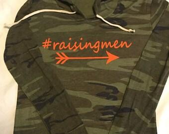 FREE SHIPPING #raisingmen Women's jersey camo hoodie