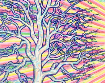 Art Print, Giclee, Palo Santo, Tree, Nature, Imagination, Creativity, Ritual, Healing, Spiritual, Mystical, Wall Art, Holy, Beauty, Life