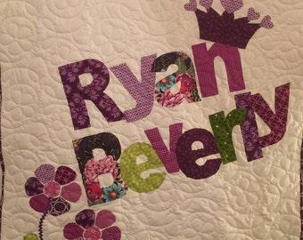 Custom name quilt