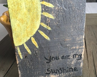 you are my sunshine wood wall sign nursery decor