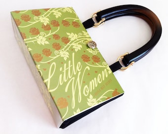 Little Women Recycled Book Purse - Book Lover Gift - Louisa May Alcott Recycled Book Cover Handbag - Childhood Gift - Purse made from a book