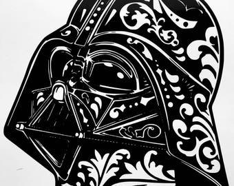 Darth Vader Sugar Skull Vinyl Decal