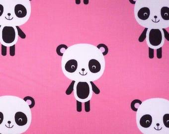 Pandas (L) on Pink FABRIC