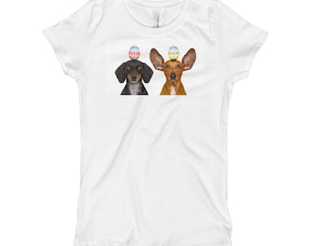 Girl's Doxie Easter T-Shirt