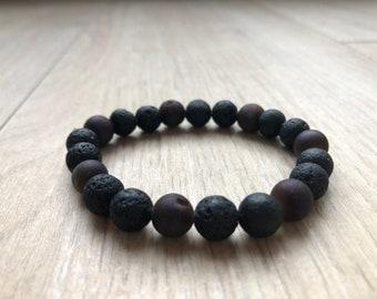 Purple sparkling kalsedon and stone lav bracelet
