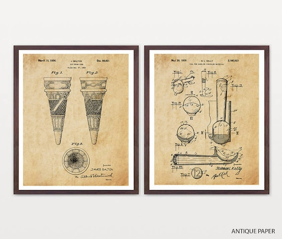 Ice Cream Patent Poster - Ice Cream Poster - Ice Cream Art - Ice Cream Cone - Ice Cream Scoop - Ice Cream Decor - Ice Cream Shop - Ice Cream