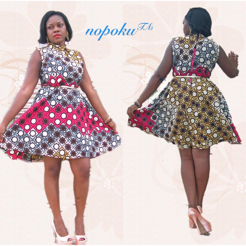 Ankara afrikanischen Kleid Multicolor Kleider Kleider