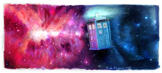 Dr Who- TARDIS Poster Print