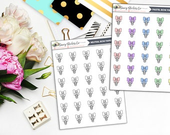 Bow Paperclip Planner Stickers | for use with Erin Condren Lifeplanner™, Filofax, Personal, A5, Happy Planner