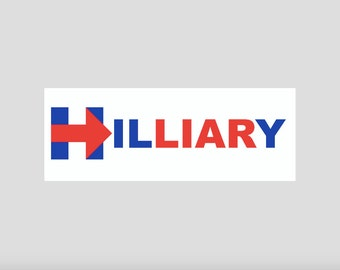 "Anti-Hillary ""hilLIARy"" Clinton for President Bumper Sticker 2016"