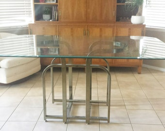Mid-Century Hollywood Palm Beach Regency Brass Dining Table - Base only