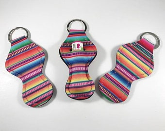 Chapstick Holders, Chapstick Keychain, Chapstick Holder Serape